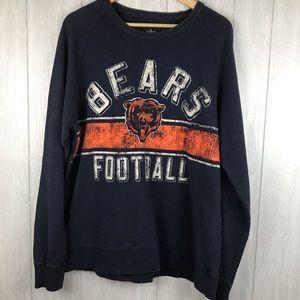 NFL Chicago Bears distressed print sweatshirt